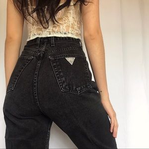 Vintage Guess Black High Waisted Jeans